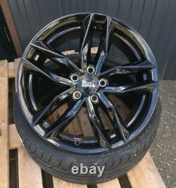 19 Zoll MAM RS3 Alu Felgen 5x112 schwarz für Audi Seat Skoda GTI R R32 RS3 S3 Q2
