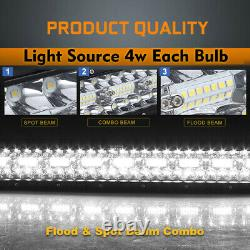 52INCH 3000W 12D Tri-Row Curved LED LIGHT BAR Spot Flood COMBO VS 50 /w Wire