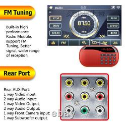 6.2 in In-dash Car Stereo Radio DVD LCD Player BT Double DIN FM/USB/SD + Camera