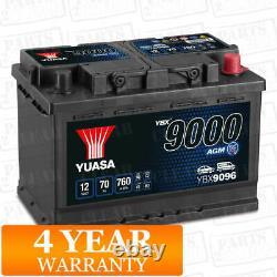 Car Battery YBX9096 AGM Stop Start Plus 12V 760CCA 70Ah T1 Terminal by Yuasa