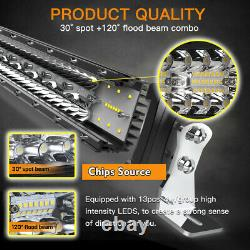 Curved 52inch 3915W LED Light Bar Flood Spot Roof Driving Truck SUV 4WD 50'