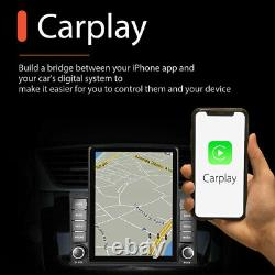 Double 2Din 9.5'' Car Stereo Radio Apple Carplay For GPS Navi WIFI BT with AHD Cam