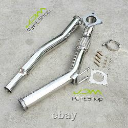 For VW GOLF MK5 MK6 GTi 2005-2012 / Audi A3 2.0T 3 Decat Turbo Exhaust Downpipe