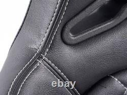 Pair Front Car Sports Seats Las Vegas faux leather black VW Audi Seat Skoda