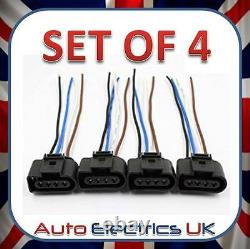 Set Of 4 Audi Vw Skoda Seat Ford Ignition Coil Connector Plug Pack Wiring Loom