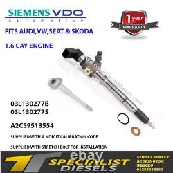 Volkswagen caddy Injector 1.6 tdi A2C9626040080 1 YEAR WARRANTY 03L130277B