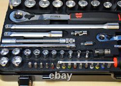 Würth Steckschlüsselsatz Zebra Steckschlüssel 59-teilig 1/4 1/2 Zoll Satz