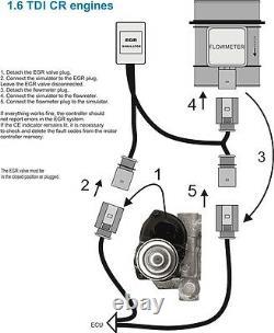 09. Simulator De Diagnostic Egr Pour Vw Audi Skoda Siège 1.6 Tdi Caya Cayb Cayc Cayd