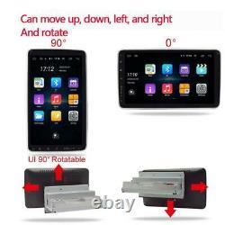10.1in Voiture Lecteur Mp5 Android 9.1 Écran Tactile Rotatif Stéréo Radio Gps Wifi