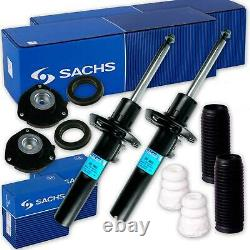 2x Sachs Stoßdämpfer + Domlager + Kit De Protection Vorne Vw Golf 5 6 Passat 3c B7
