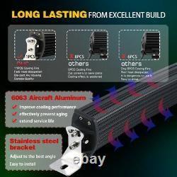52inch 3000w 12d Tri-row Courbé Led Light Bar Spot Flood Combo Vs 50 /w Fil