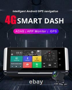 7in Android 5.1 Fhd Dual Lens Car Dvr Dash Cam Caméra Vue Arrière Gps Nav Wifi Adas