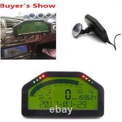 9000rpm Tacho Car Dash Race Display Sensor Kit Bluetooth Écran LCD Rally Gauge