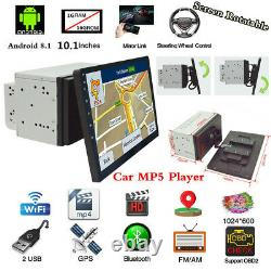 Android 8.1 10.1 Double Din Quad-core Voiture Stereo Radio Lecteur Mp5 Bluetooth Gps