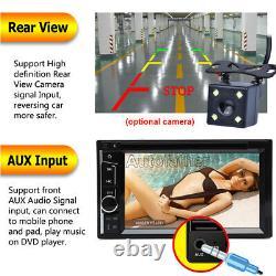 Double 2 Din Hd 6.2inch Écran Tactile Voiture Lecteur DVD Stereo Radio + Caméra De Sauvegarde
