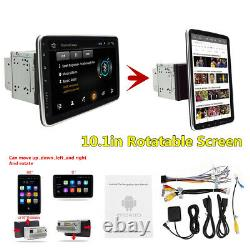 Double 2din Rotatif 10.1in Android 9.1 Voiture Fm Stereo Radio Gps Wifi Lecteur Mp5