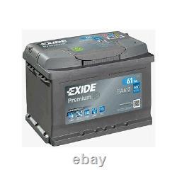 Ea612 Exide Premium 60ah 600cca 12v Type 075 W075te Batterie De Voiture 4 Ans Garantie