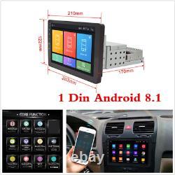 Hd 8 Android 8.1 Unique Din Dash Car Radio Stereo Gps Chef Unité Sat Nav Wifi Fm