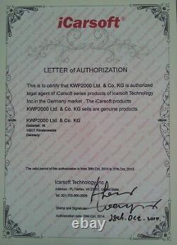 Icarsoft Cr Pro Universeller 45 Scanner Automatique Alle Systeme Obd2 & Service En Ligne
